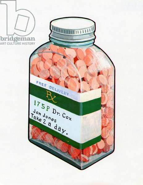 Bottle of Prescription Pills, 1967 (screen print)