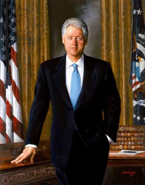 Portrait of President Bill Clinton, 2001 (oil on canvas)