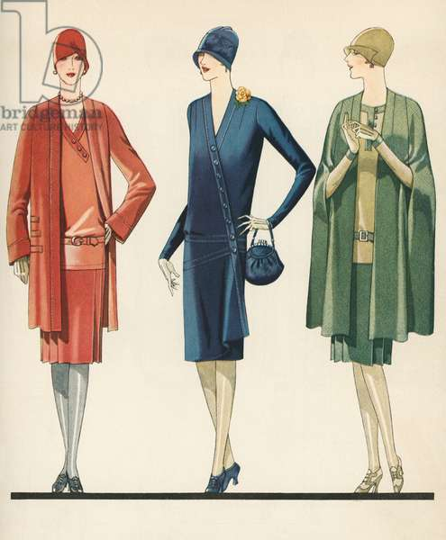 Flappers in Frocks and Coats, 1928 (screen print)