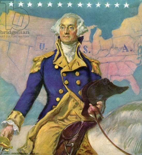 George Washington on Horseback, c. 1935 (screenprint)