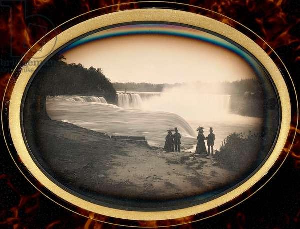 Daguerreotype of Niagara Falls by Babbitt, c.1855 (daguerreotype)