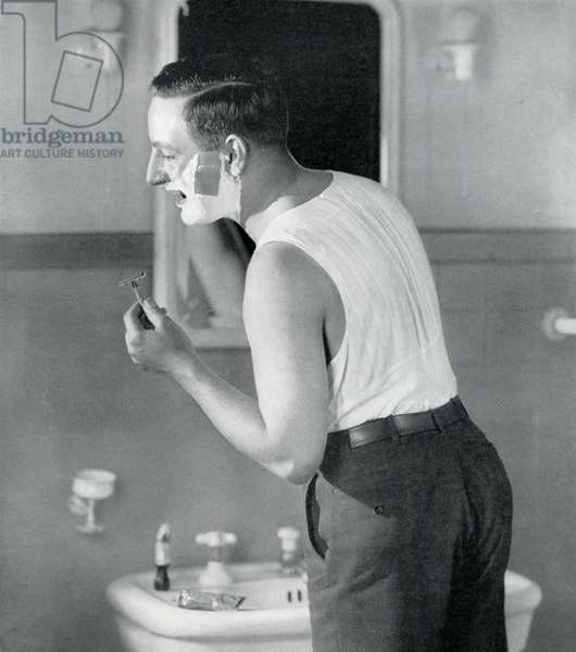 Guide to Selling - Businessman Getting Ready for the Day, 1928 (screen print)