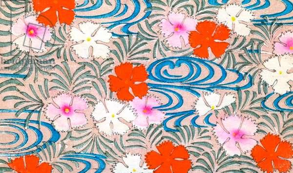 Woodblock Print of Carnation Flowers, 1882 (woodblock print)