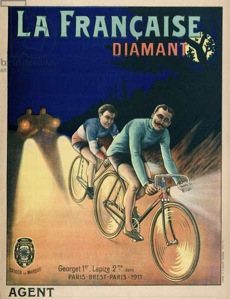 Tour de France Cycling Poster from 1911, 1911 (colour litho)