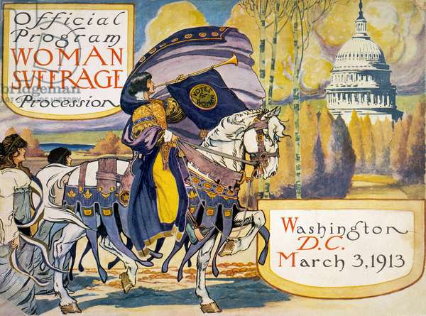 Official Program for the Woman Suffrage Procession, 1913 (screen print)