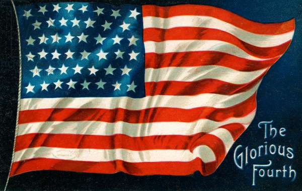 Fourth of July American Flag, 1926 (chromolithograph)