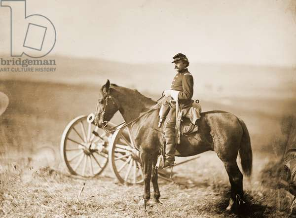 American Civil War Aide-de-Camp on Horseback, 1862 (albumen print)