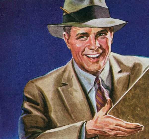 Illustration of American Businessman, c.1920s-30s (print)