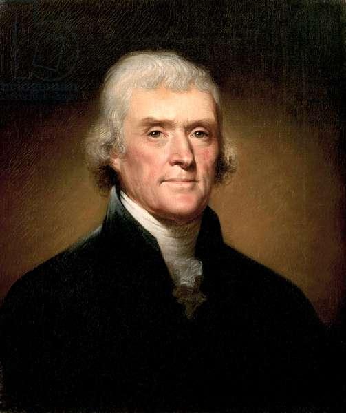 Portrait of Thomas Jefferson, 1853 (oil on canvas)