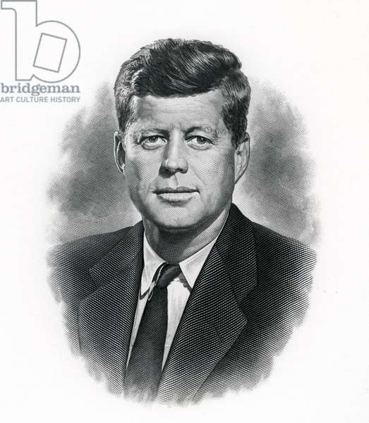 Official Portrait of President John F. Kennedy, c.1962 (engraving)