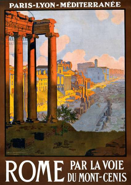 Vintage Travel Poster for Rome, Italy, c.1920 (colour litho)