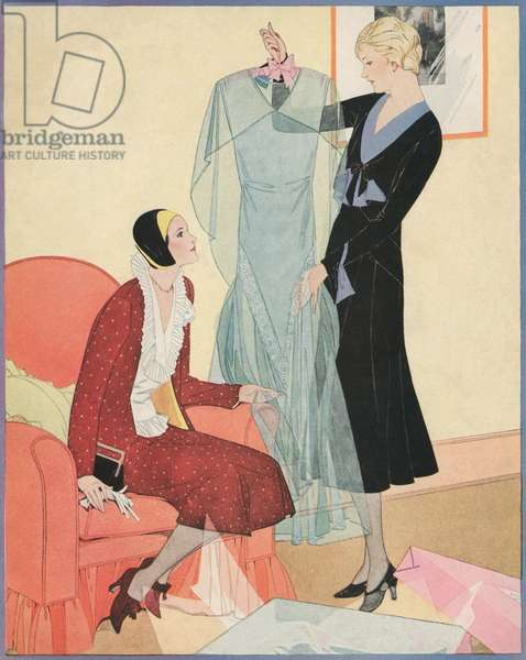 Flappers with New Clothes, 1930 (screen print)