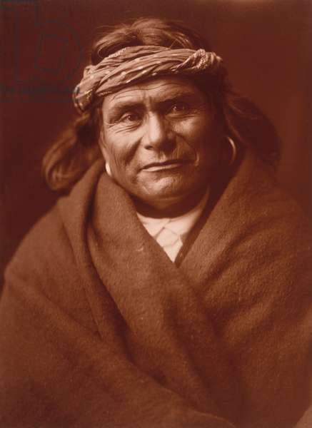 Acoma Man by Edward S. Curtis, c.1904 (toned silver print)