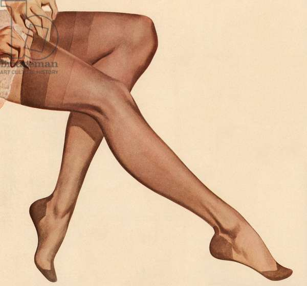 Legs of a Woman in Sheer Nylons, 1954 (screen print)