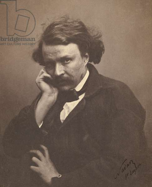 Self-Portrait by Nadar, 1855 (salt print)