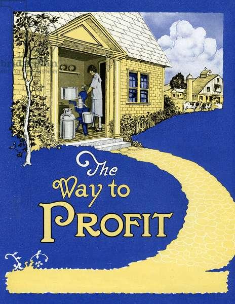 The Way to Profit Illustration, 1923 (screenprint)
