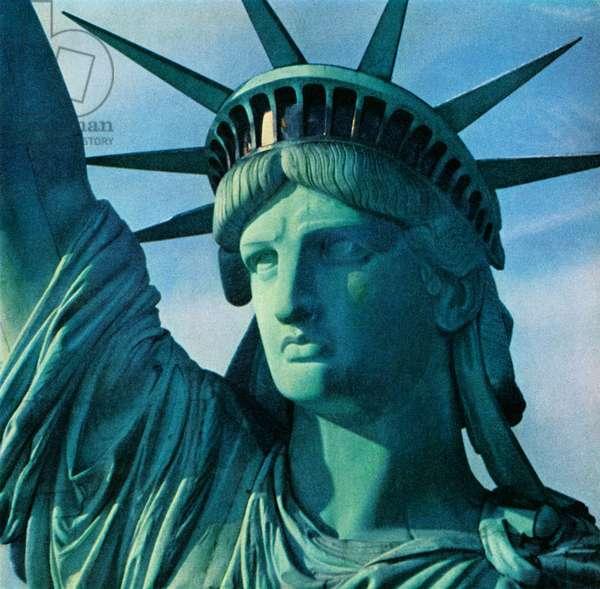 Close-Up of the Statue of Liberty, 1957 (screenprint)