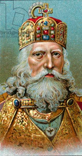 Portrait of Charlemagne, 1923 (chromolithograph)