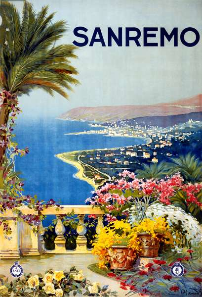 Vintage Poster of San Remo, Italy, c.1920 (litho)