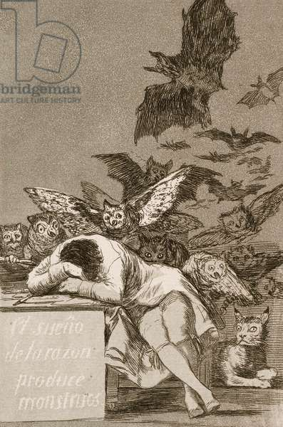 The Sleep of Reason Produces Monsters by Francisco Goya, 1799 (etching with aquatint)