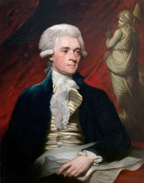 Portrait of Thomas Jefferson, 1786 (oil on canvas)