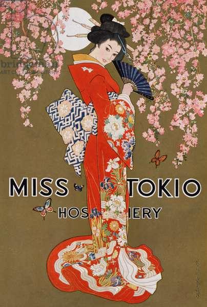 Miss Tokio Hosiery Illustration, c.1925 (screenprint)