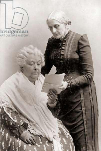 Portrait of Elizabeth Cady Stanton and Susan B. Anthony, 1880-1902 (silver print)