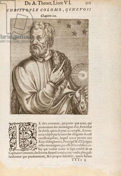 Christopher Columbus Using Star Navigation, 1584 (engraving)