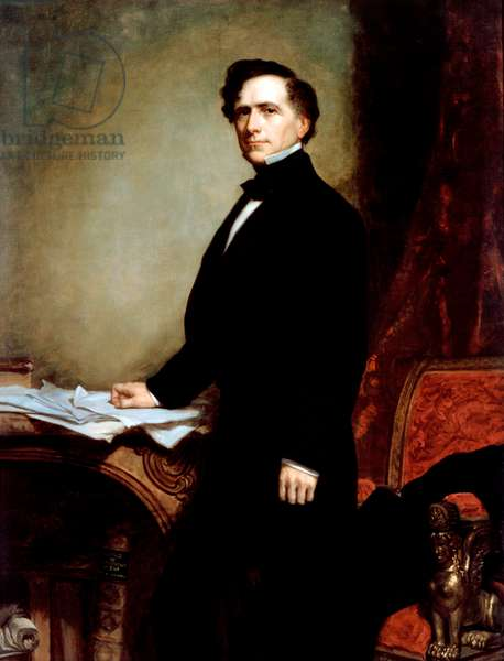 Portrait of President Franklin Pierce, 1858 (oil on canvas)