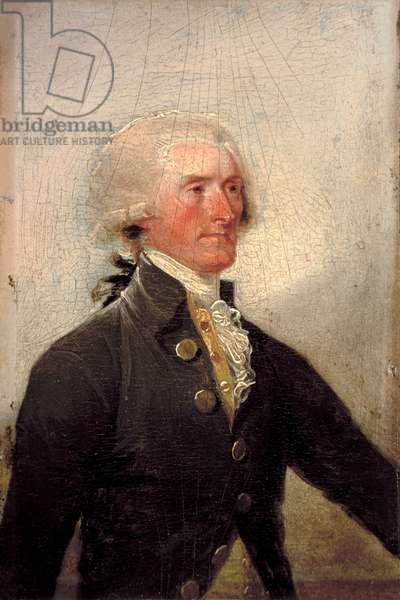 Portrait of Thomas Jefferson by John Trumbull, 1788 (oil on panel)