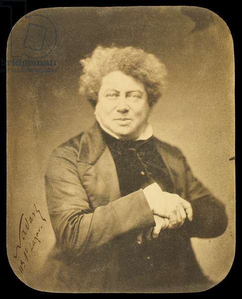 Portrait of Alexandre Dumas by Nadar, 1855 (salt print)