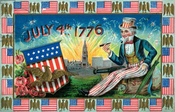 Uncle Sam on the Fourth of July, 1907 (chromolithograph)