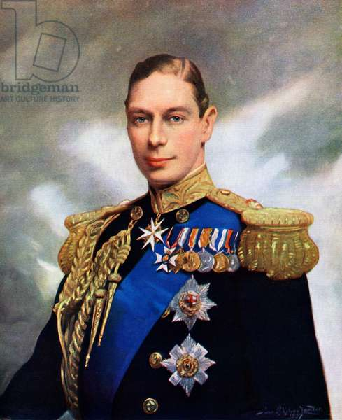 Coronation Portrait of King George VI in 1937, 1937 (screenprint)