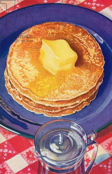 Butter Melting on a Stack of Pancakes, 1935 (screen print)