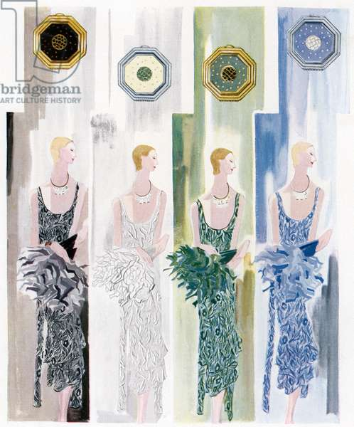 Four Flappers, 1930 (screen print)