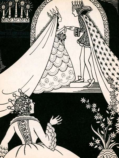 Snow White Marries the Prince, 1937 (litho)