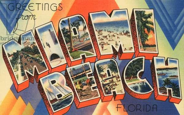 Greetings from Miami Beach, Florida, 1944 (screen print)