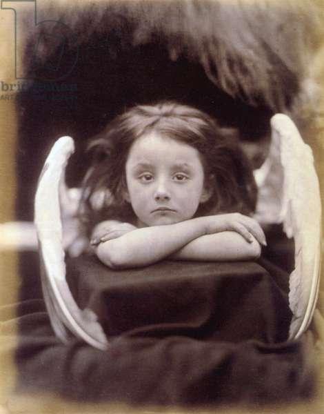 I Wait (Rachel Gurney as an Angel), 1872 (b/w photo)