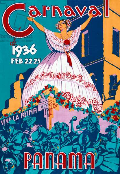 Poster for the 1936 Panama Carnaval, 1936 (colour litho)
