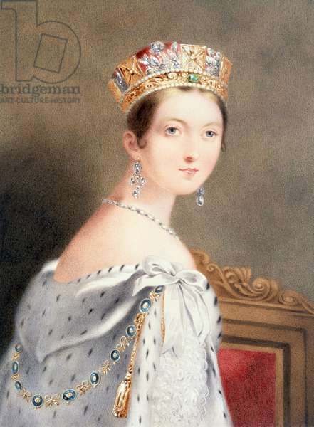 Coronation Portrait of Queen Victoria, 1838 (etching)