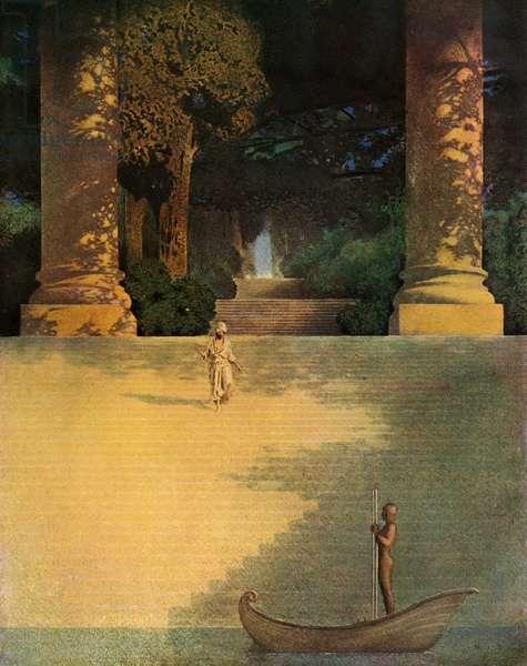 Prince Agib by Maxfield Parrish, 1909 (screen print)
