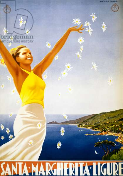 Vintage Travel Poster for Santa Margherita Ligure, c.1950 (colour litho)