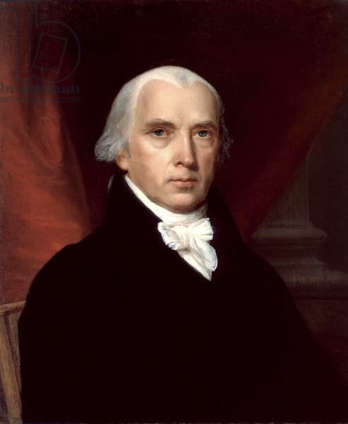 Portrait of James Madison, 1816 (oil on canvas)