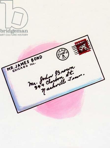Hand-Written Letter, 1967 (screen print)