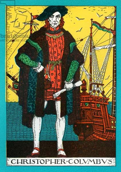 Christopher Columbus, 1930 (colour litho)