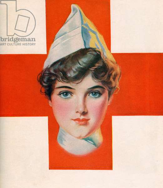 Red Cross Nurse, 1914 (screen print)