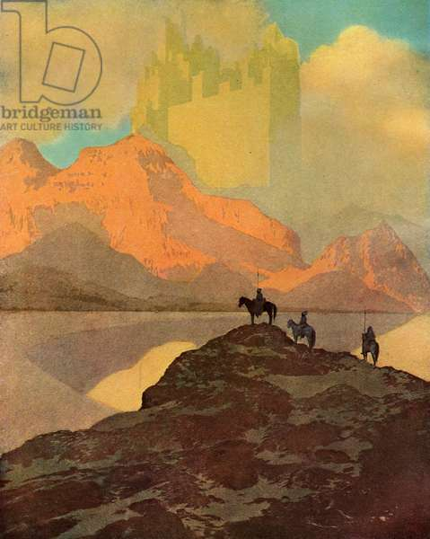 The City of Brass by Maxfield Parrish, 1909 (screen print)