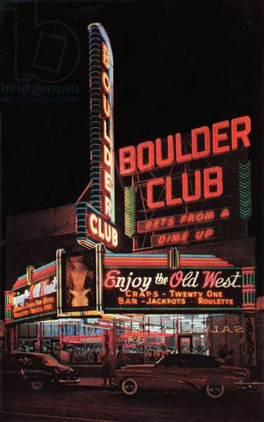 Boulder Club Neon in Las Vegas, 1956 (screen print)