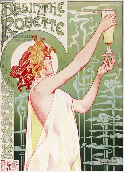 Absinthe Robette Poster by Privat Livemont, 1896 (colour litho)