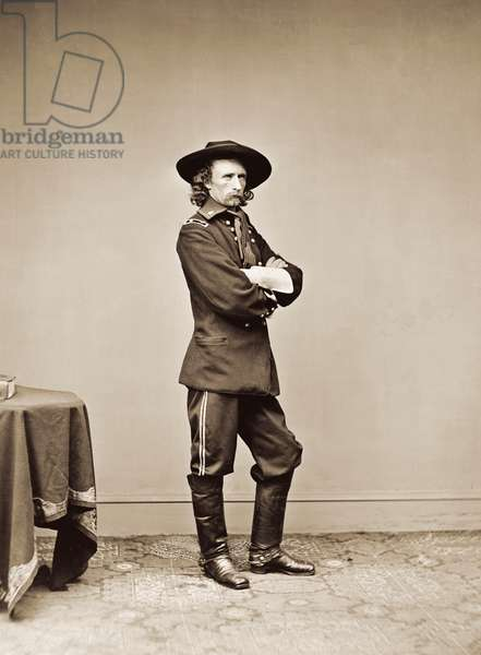 Portrait of General George Armstrong Custer, 1865 (albumen print)